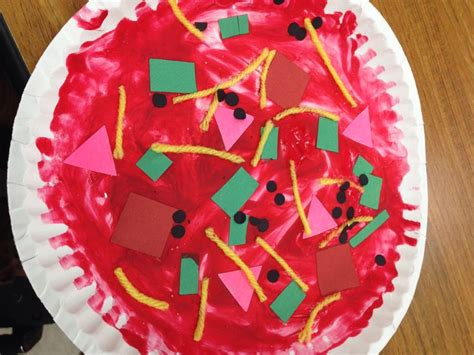 paper plate pizza craft paper pizza crafts for preschoolers