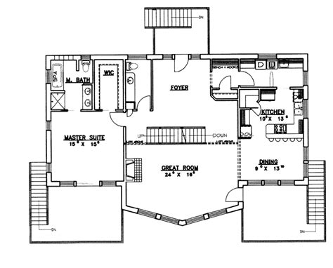 waterfront floor plans dealing with waterfront house plans 959