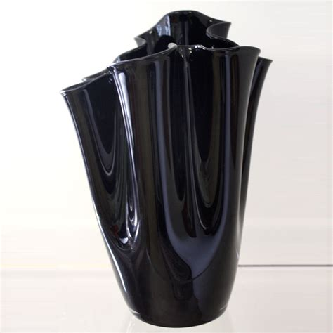 Black Glass Handkerchief Vase Ten And A Half Thousand Things