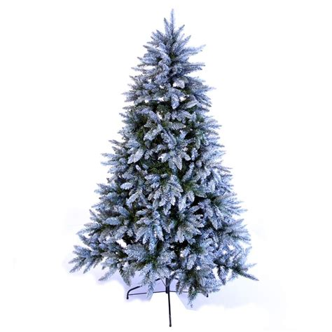 7 ft frosted tree 7 210cm frosted silver fir tree buy at qd