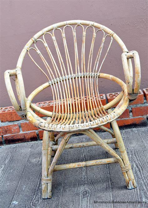sillas y sillones de mimbre renovar sillones de bamb 250 y mimbre con un cambio de color