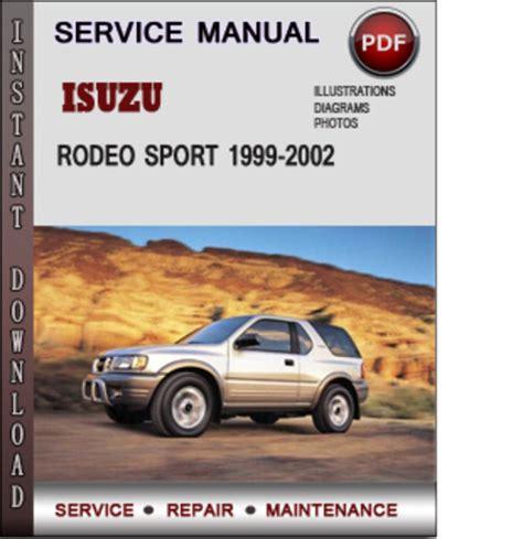 car repair manuals online free 2002 isuzu rodeo sport spare parts catalogs service manual 2002 isuzu rodeo sport workshop manual free download isuzu trooper rodeo