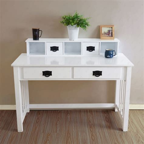 ebay home office furniture computer desk laptop table workstation drawer wood home