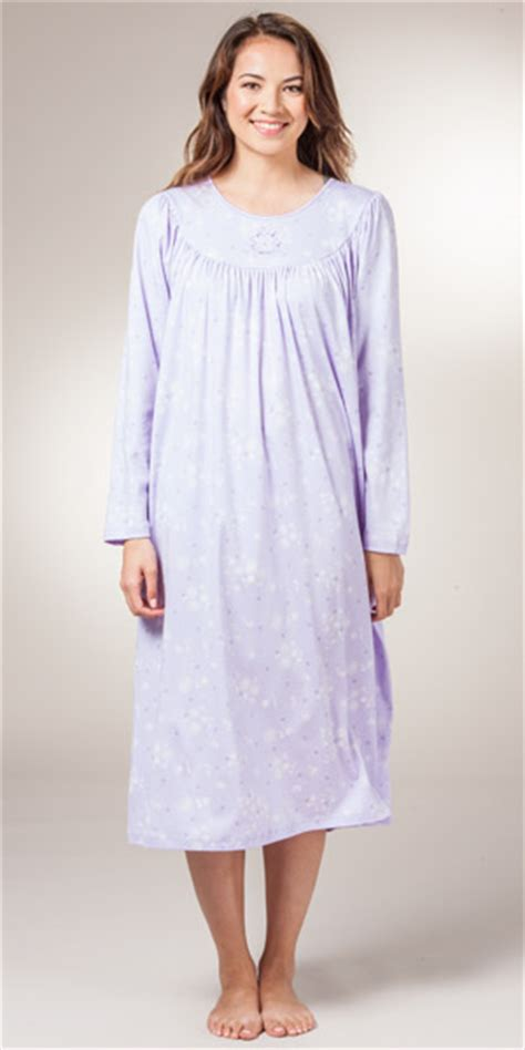 knit nightgowns calida cotton nightgown sleeve interlock knit
