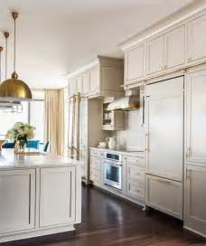 Space For Kitchen Island grey kitchen cabinets brass accents this or that cococozy