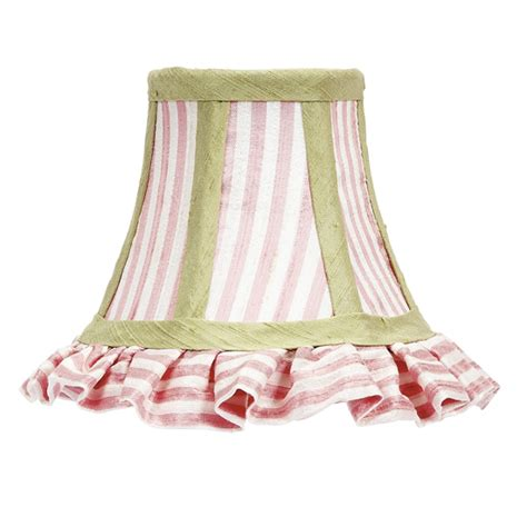 green chandelier shades ruffled chandelier shade pink white green