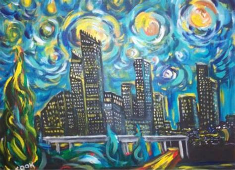 paint nite houston the office starry nights and on