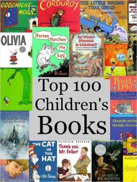 most picture books best books for top 100 children s books by sallie