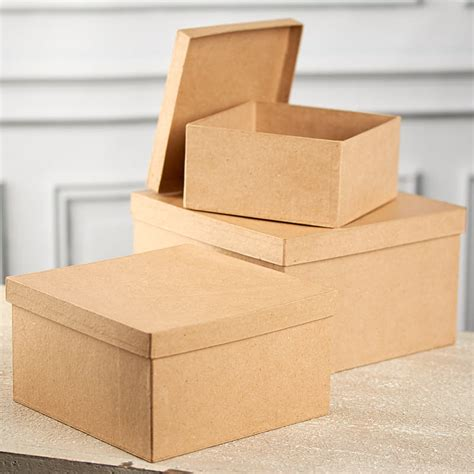 square craft paper paper mache square box set paper mache basic craft