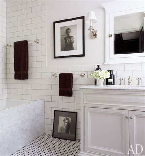 black and white bathroom tile designs 1000 images about white subway tile bathrooms on