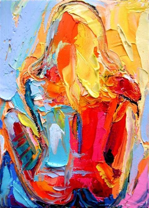 acrylic painting human colorful on