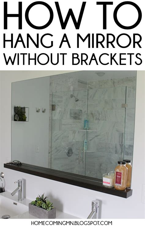 bathroom mirror hangers home coming how to install a bathroom mirror without brackets