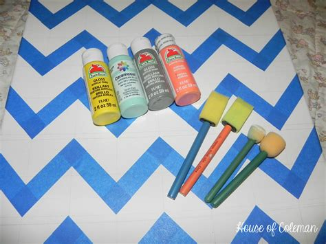 on canvas chevron canvas wall diy house of coleman