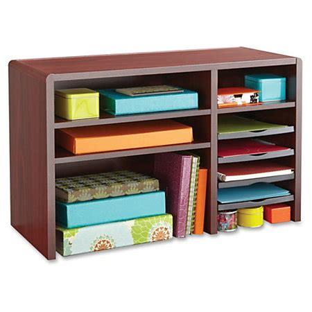 office depot desk organizers safco desktop organizer mahogany by office depot officemax
