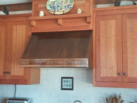 Beautiful Kitchen Backsplashes under cabinet copper range hood handcrafted in usa by
