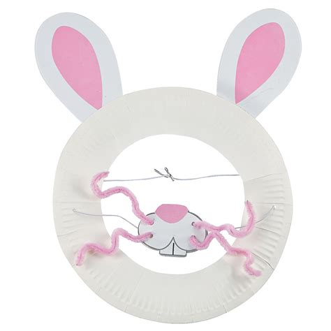 easter bunny paper plate craft paper plate easter bunny mask craft kit trading