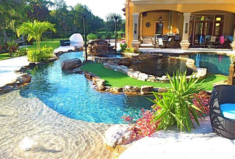 lazy river pools for your backyard backyard oasis lazy river pool with island lagoon and