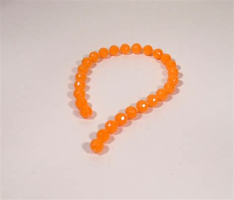 poly bead plastic orange 9 quot
