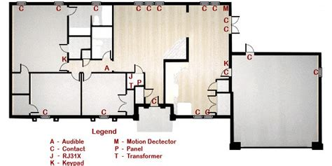 security floor plan home security system component layout livewatch security