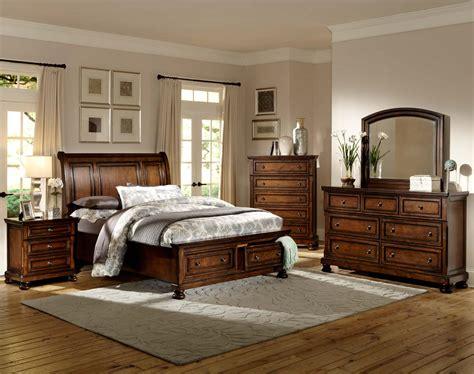 homelegance cumberland platform bedroom set brown cherry