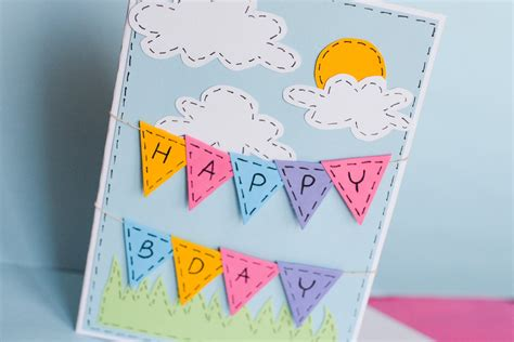 make a e card how to make greeting birthday card step by step