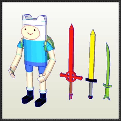 adventure time paper crafts adventure time finn the human ver 2 free papercraft
