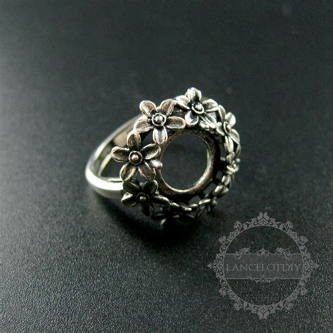 jewelry ring supplies aliexpress buy 10mm setting size flower bezel