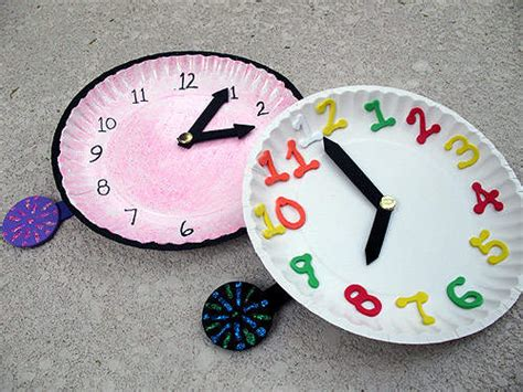 clock craft project crafts new years crafts for