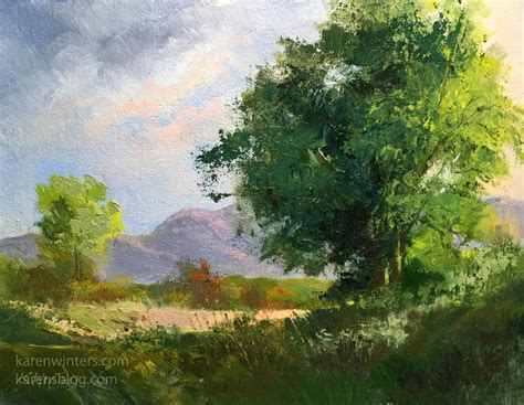 painting landscapes winters california impressionist paintings