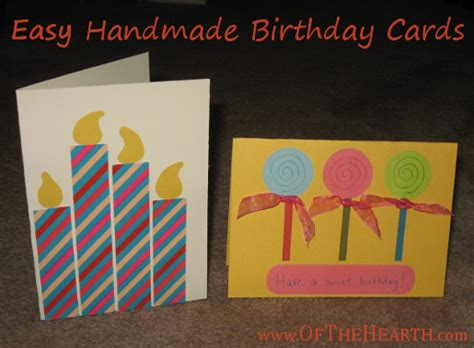 how to make easy birthday cards easy birthday card ideas