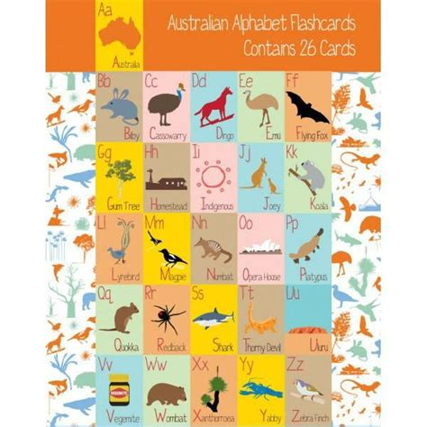 alphabet australia 26 alphabet flash cards australian themed bits of australia