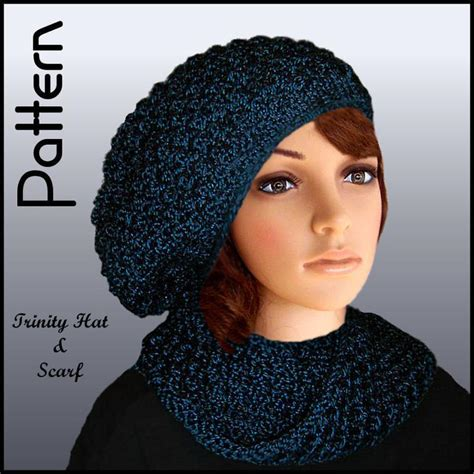 knitted scarf hat slouchy hat and by jo mackinnon knitting pattern