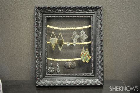 how to make jewelry holder picture frame how to make a picture frame jewelry organizer
