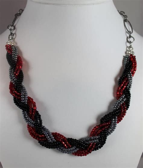 beaded braided necklace seed bead braided necklace collares necklaces