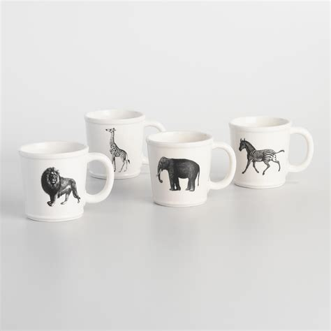 animal mug animal inspiration mugs set of 4 world market