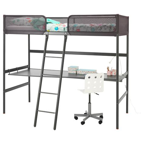 ikea loft bed tuffing loft bed frame grey 90x200 cm ikea