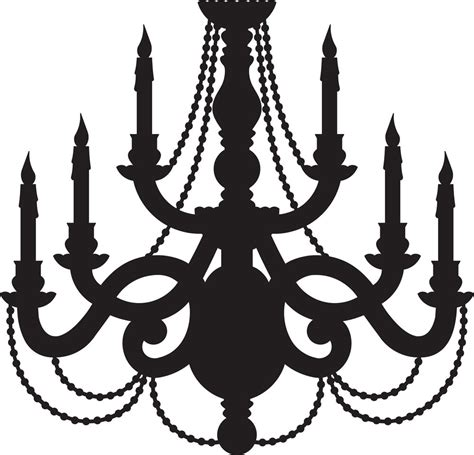 chandelier silhouette clip chandelier svg digital cut file graphic vector image