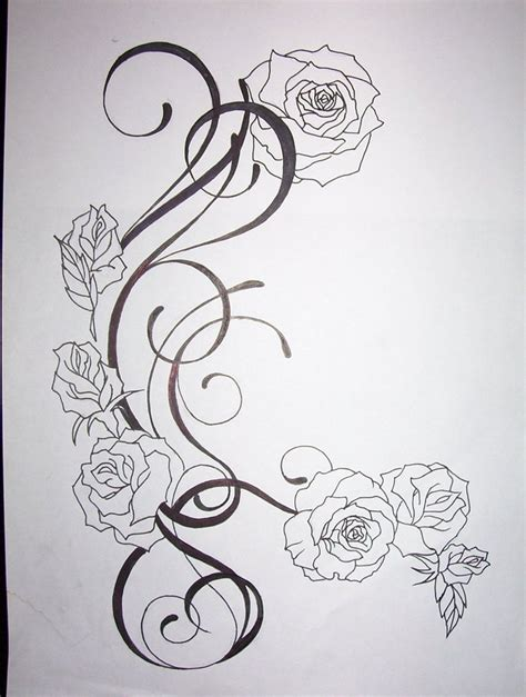 flower tattoo design by tattoosuzette on deviantart