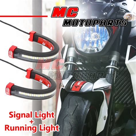 fork lights front fork light led turn signal light indicator for honda