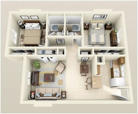 2 bedroom designs 10 awesome two bedroom apartment 3d floor plans