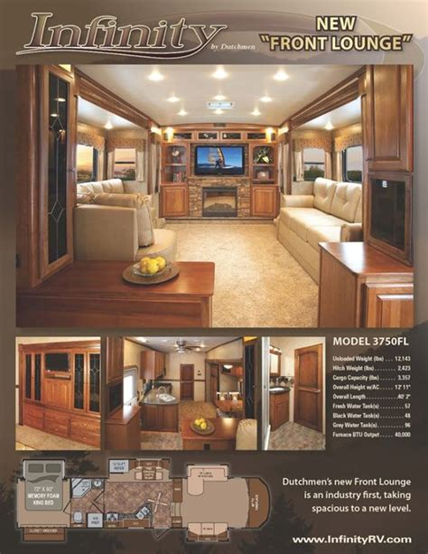 fifth wheel floor plans front living room dutchmen rv infinity 3750fl general rv center