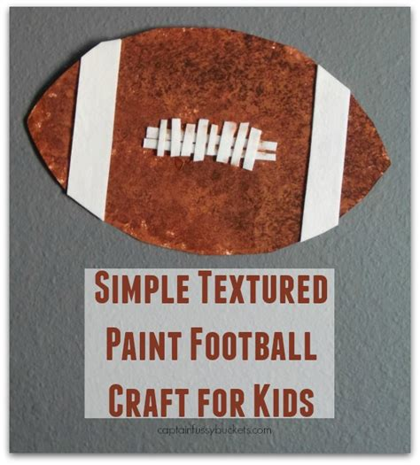 football crafts for simple textured paint football craft for with