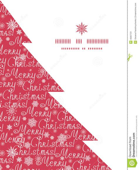tree text vector merry text pine tree silhouette stock