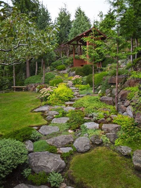backyard rock garden how to landscaping with rocks garden decor 1001 gardens