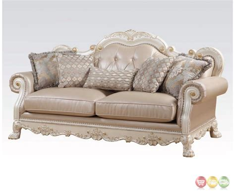 antique tufted sofa dresden formal button tufted sofa loveseat in antique