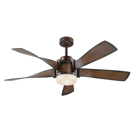 ceiling fans with up and lighting shop kichler lighting 52 in mediterranean walnut with