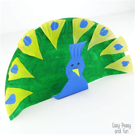 craft paper plate paper plate peacock crafts for easy peasy and