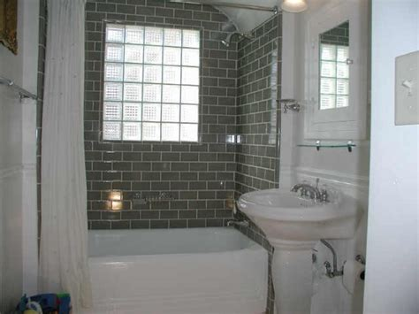 bathrooms with subway tile ideas subway tile for small bathroom remodeling gray color in