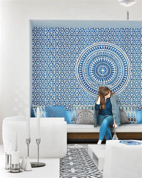 morrocan interior design d 233 coration d int 233 rieur en blanc et bleu pour toutes les pi 232 ces