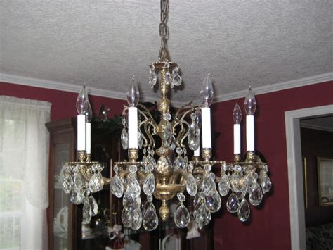 large vintage brass and chandelier traditional